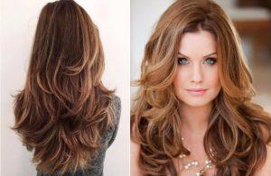 Diferentes cortes de cabello en capas