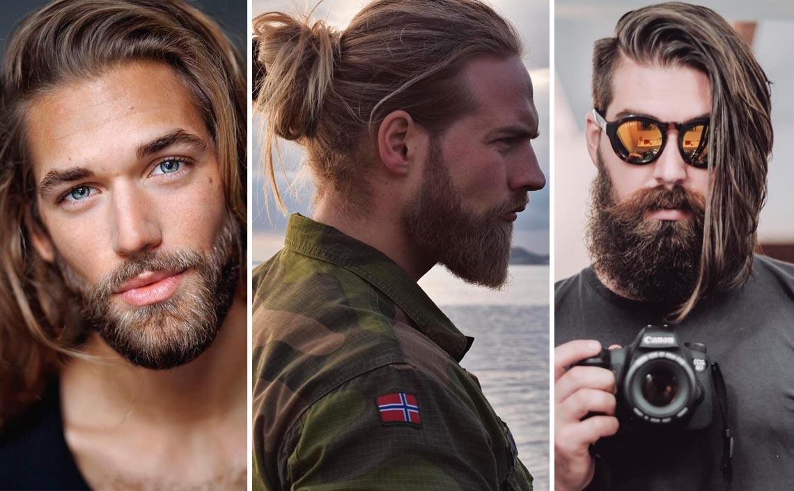 cuidado cabello largo hombres