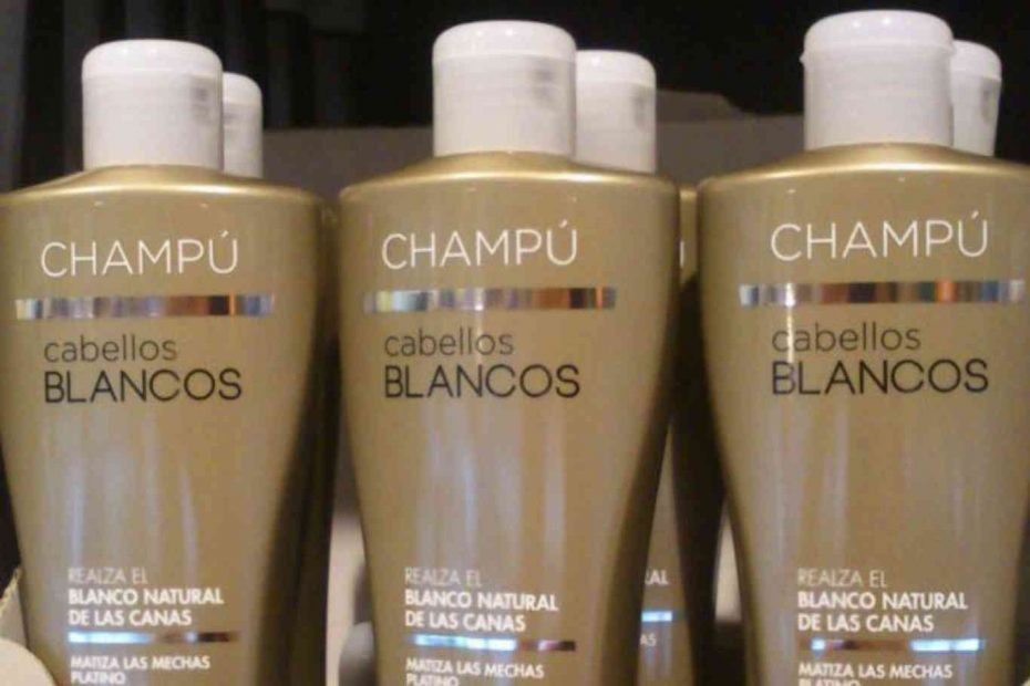 Champu cabellos blancos deliplus 1