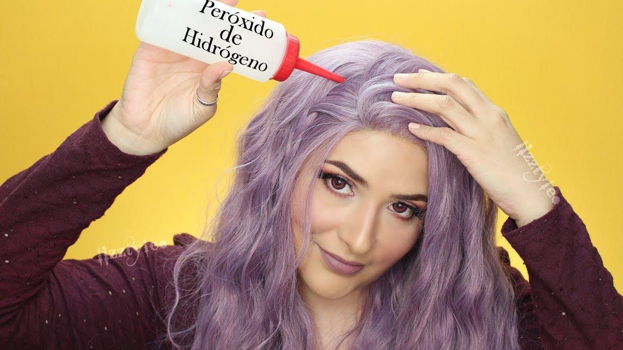 Peroxido de hidrogeno cabello