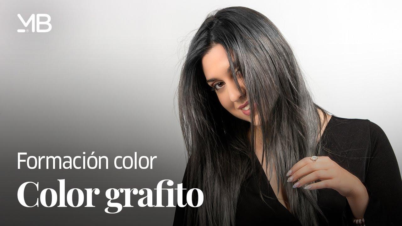 cabello gris platinado con grafito
