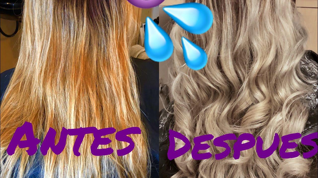 tono amarillo del cabello