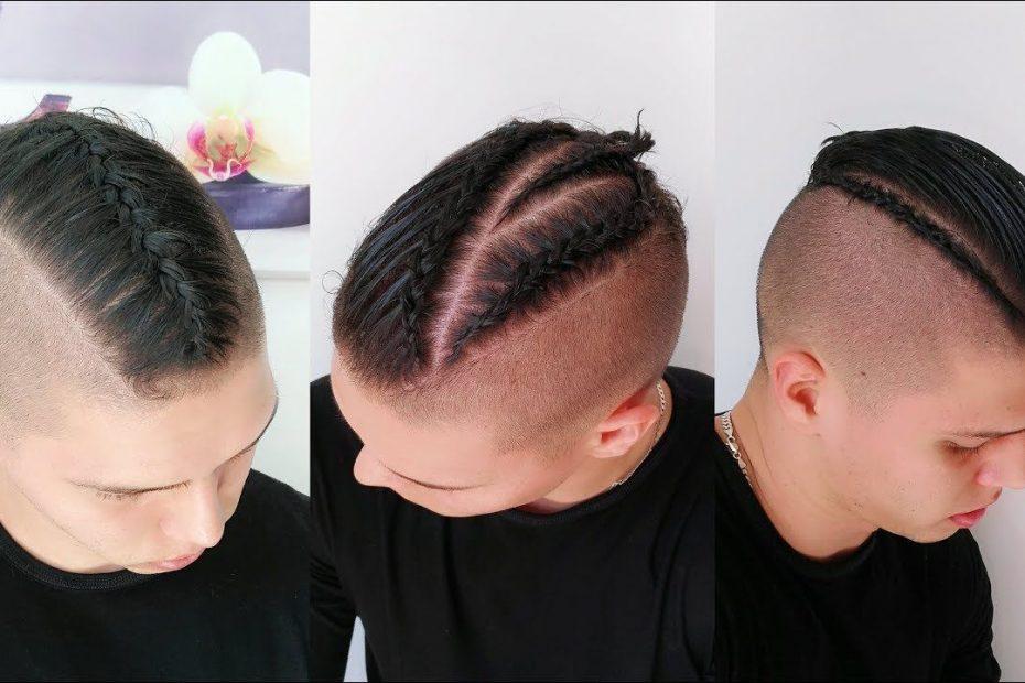 hombres de pelo corto
